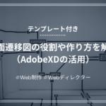 【Webディレクター】画面遷移図の役割や作り方を解説(AdobeXDの活用)【テンプレあり】
